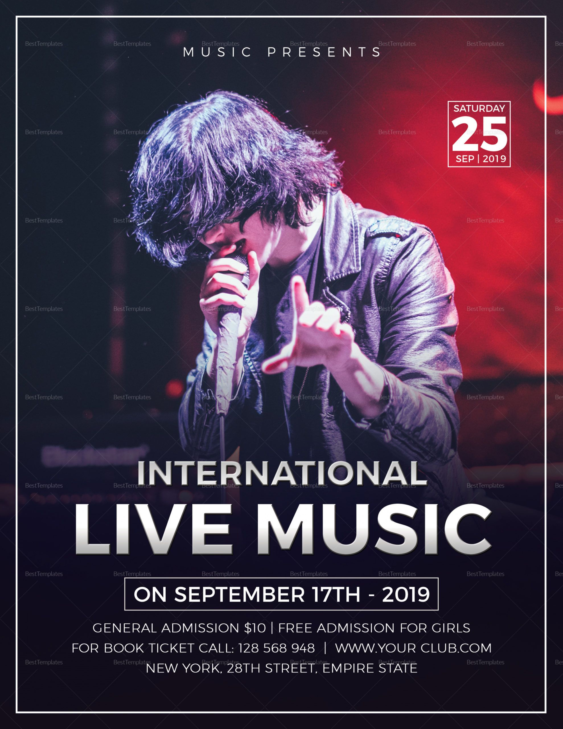 live music concert flyer design template in word psd publisher live music flyer template doc