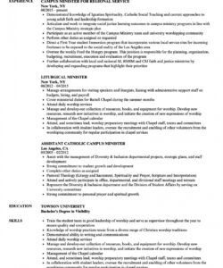 minister resume samples  velvet jobs worship leader job description template and sample