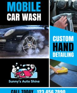 mobile car wash flyer template  mycreativeshop mobile car wash flyer template and sample