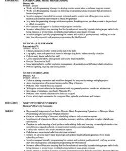 music resume samples  velvet jobs church music director job description template doc