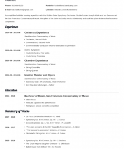 music resume template with examples for a musician church music director job description template