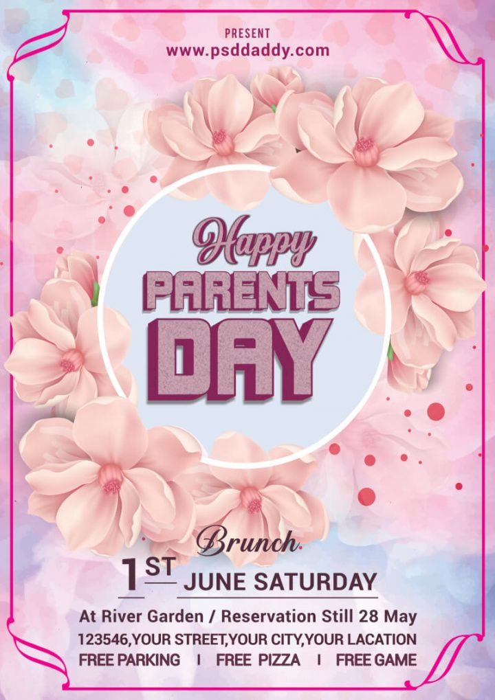 parents day flyer social media post  psddaddy customer appreciation day flyer template pdf