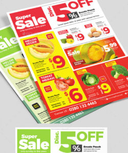 product flyer  supermarket catalog flyer grocery store flyer template