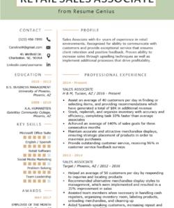retail sales associate resume sample & writing tips  resume retail job description template doc