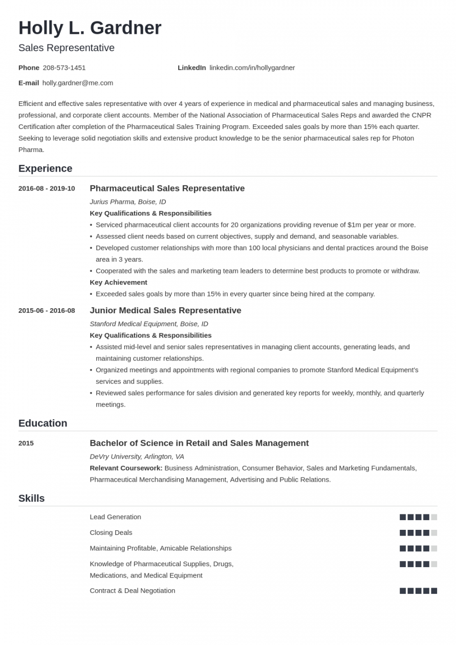 sales resume examples for a sales representative 25 tips