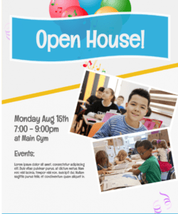 school open house  flyers template gym open house flyer template doc