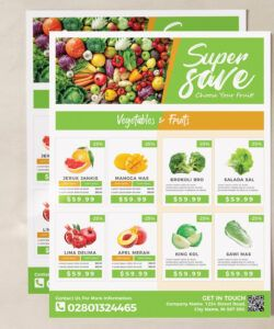 supermarket  grocery flyer template promotion grocery store flyer template