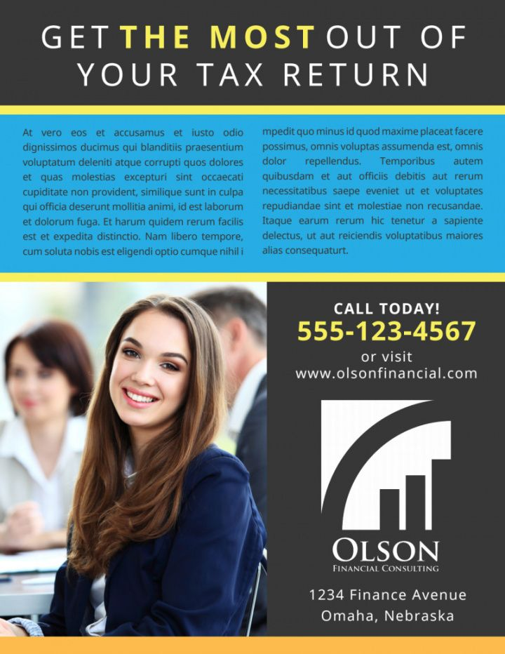 tax preparation advertising flyer template  mycreativeshop tax preparer flyer template
