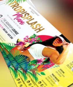 tropical party flyer template on behance hispanic heritage flyer template and sample