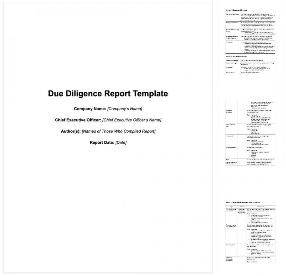 typical due diligence questions to ask for buying a business due diligence checklist template examples