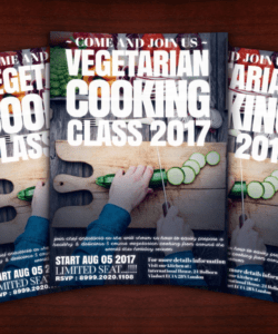 vegetarian cooking class flyer template cooking class flyer template and sample