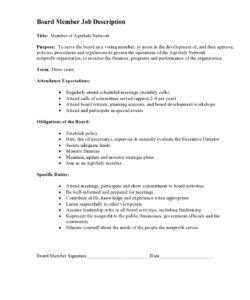 view job description board member job description template pdf