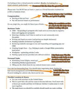 virtual assistant job description template  ongig blog virtual assistant job description template pdf