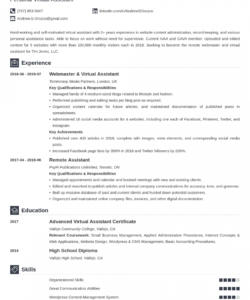 virtual assistant resume examples & job description virtual assistant job description template