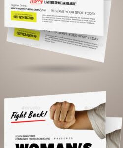 woman's self defense flyer templates self defense class flyer template doc