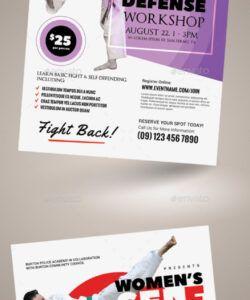 women's selfdefense flyer templates self defense class flyer template pdf
