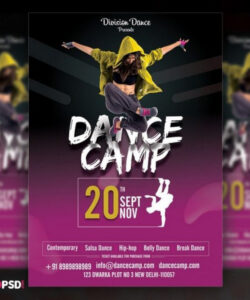 30 best event flyer templates  design shack dance camp flyer template pdf