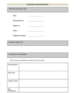 47 job description templates & examples ᐅ templatelab blank job description template