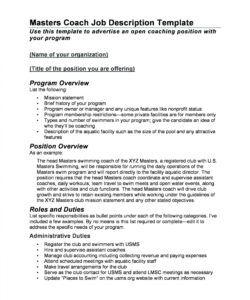 47 job description templates & examples ᐅ templatelab coaching job description template and sample