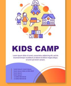 afterschool kids summer camp brochure template vector image day camp flyer template pdf