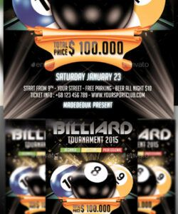 billiard flyer graphics designs & templates from graphicriver pool tournament flyer template pdf