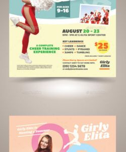cheer camp flyer templates dance camp flyer template pdf