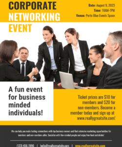 corporate networking business flyer template networking event flyer template pdf