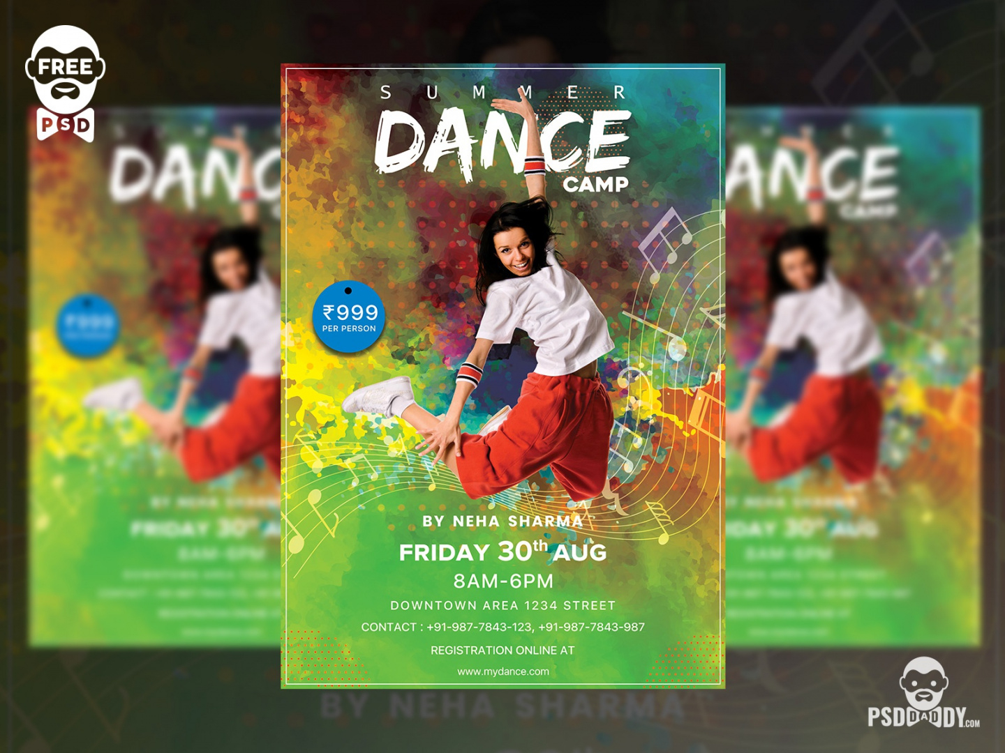 dance camp flyer free psd template by pixelsquad on dribbble dance camp flyer template and sample