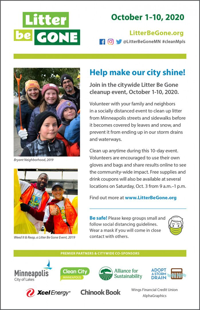 download outreach materials  litter be gone neighborhood cleanup flyer template doc
