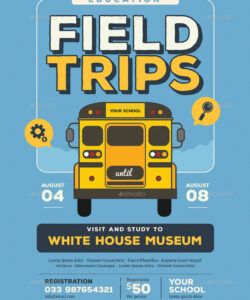 field trip event flyer bus ride flyer template pdf