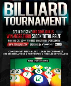 free billiard flyer graphics designs & templates from graphicriver pool tournament flyer template pdf