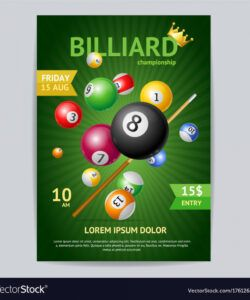 free billiard tournament flyer vector images 43 pool tournament flyer template and sample