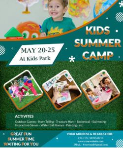 free download free great fun kids summer camp flyer design templates day camp flyer template pdf