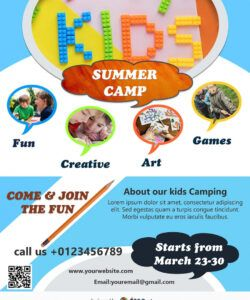 free download free kids summer camp flyer design templates day camp flyer template doc