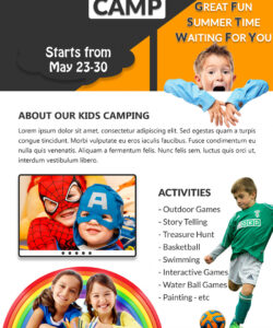free download free sporty fun kids summer camp flyer design templates day camp flyer template and sample