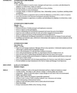 free junior sous chef resume samples  velvet jobs sous chef job description template