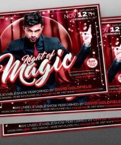 free magic performer flyer template psd design for photoshop magic show flyer template doc