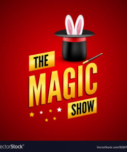 free magic poster design template magician logo vector image magic show flyer template and sample