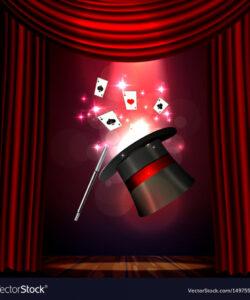 free magic show poster design template magic show vector image magic show flyer template and sample