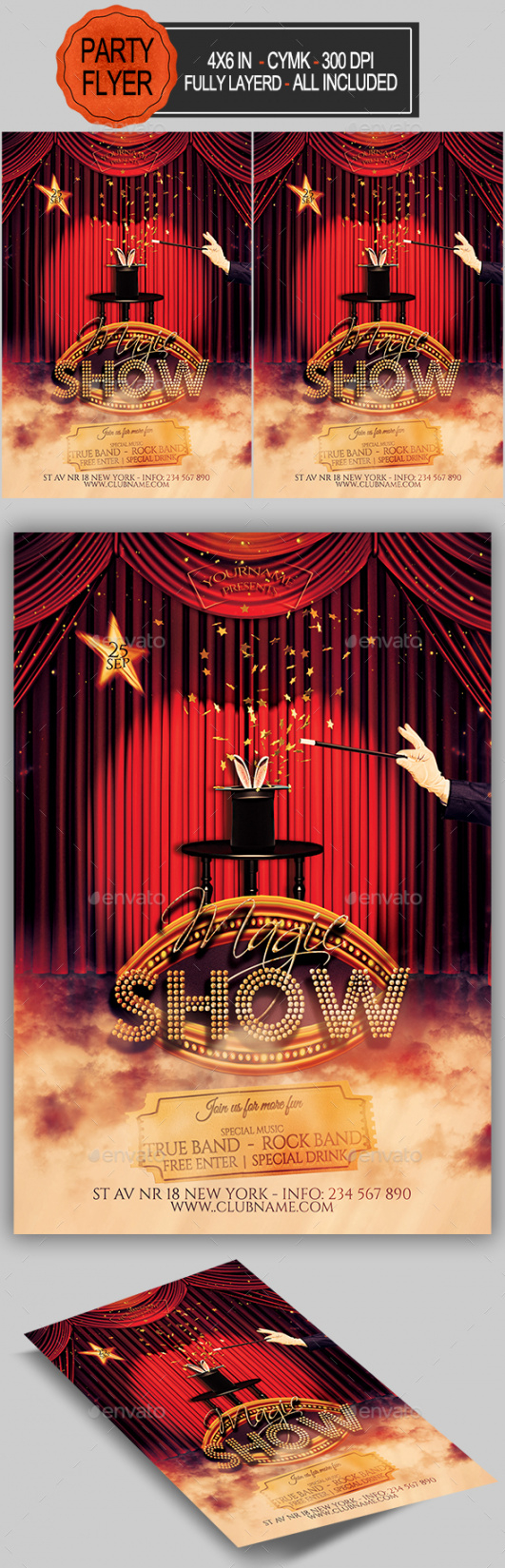 free magic show stationery and design templates from graphicriver magic show flyer template doc