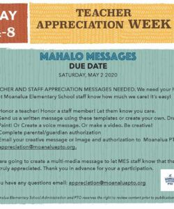 free mahalo messages due 52 for teacher appreciation week teacher appreciation flyer template