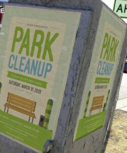free park cleanup flyer template  flyerheroes neighborhood cleanup flyer template and sample