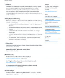 free physician assistant resume examples & writing tips 2021 physician assistant job description template pdf