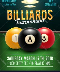 free pool billiards tournament poster royalty free vector image pool tournament flyer template and sample