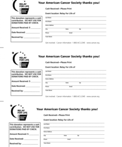 free relay for life donation receipt form  fill online relay for life fundraiser flyer template doc