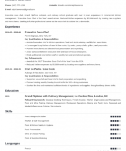 free sous chef resume sample guide & 20 examples sous chef job description template pdf