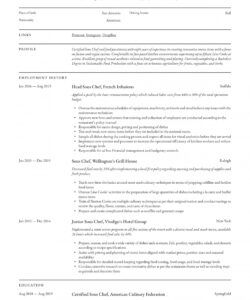 free sous chef resume & writing guide  12 resume examples  2020 sous chef job description template pdf
