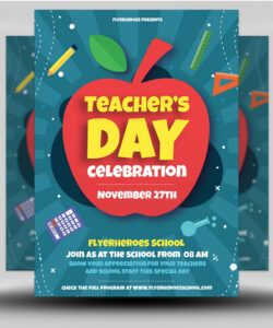free teacher's day flyer template  flyerheroes teacher appreciation flyer template