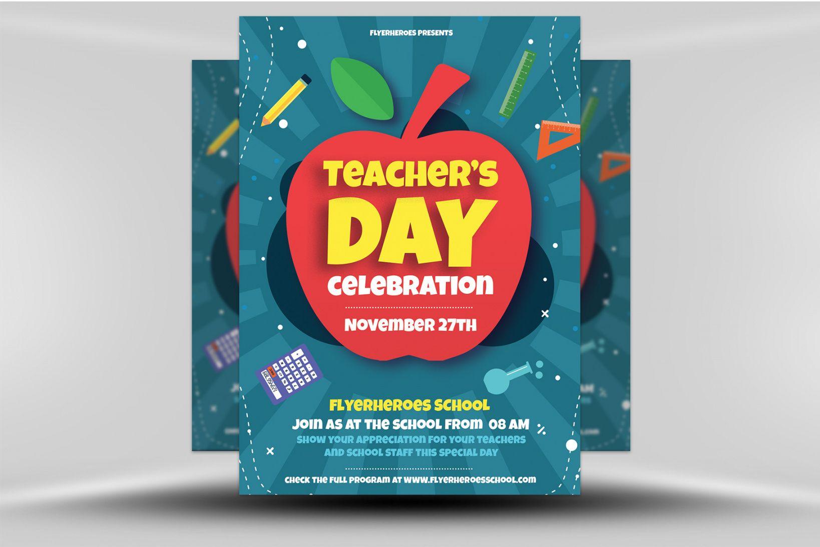 free teacher's day flyer template  flyerheroes teacher appreciation flyer template