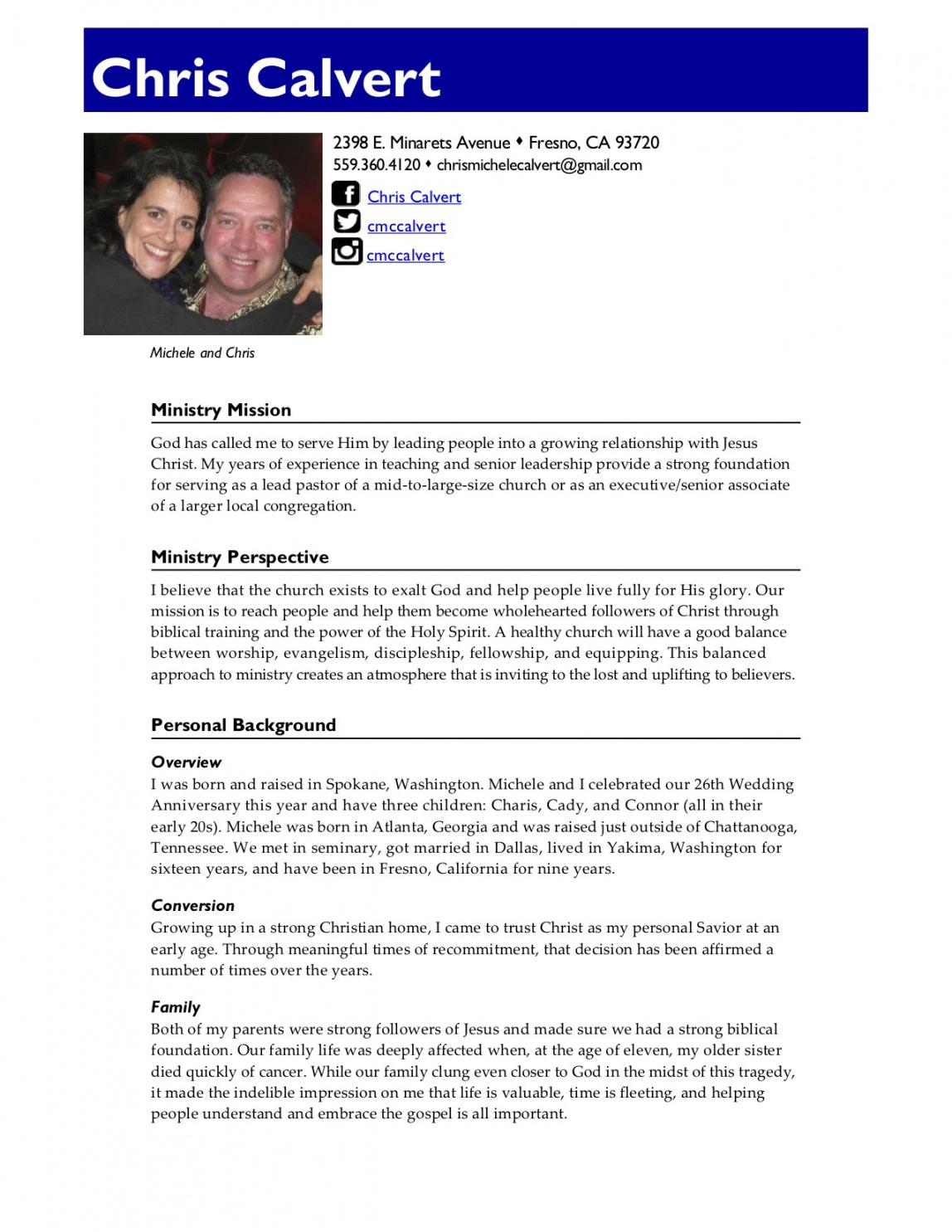 great resumes  xpastor® senior pastor job description template pdf